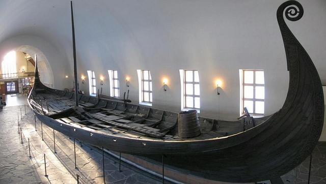 Ship of Vikings of the Baltic Sea